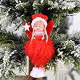 Offer for MINGLIFE Christmas Ornament Sets Cute Girl Angel Doll Toy Decoration Home, Xmas New Year Gift Table Decor Ornament Christmas (B)