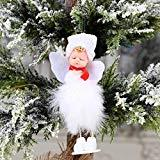 Offer for MINGLIFE Christmas Ornament Sets Cute Girl Angel Doll Toy Decoration Home, Xmas New Year Gift Table Decor Ornament Christmas (D)
