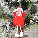 Offer for MINGLIFE Christmas Ornament Sets Cute Girl Angel Doll Toy Decoration Home, Xmas New Year Gift Table Decor Ornament Christmas (A)