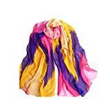 Offer for Women Fashion Chinese Ink Style Wrap Lady Shawl Chiffon Scarf Scarves (Purple)