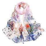 Offer for Fashion Women Long Soft Wrap scarf Ladies Shawl Chiffon Scarf Scarves (Hot Pink 3)