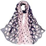 Offer for Women Lady Shawl Chiffon Dot Rectangle Scarf Scarves Gauze Kerchief (A)