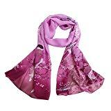 Offer for Women Printed Soft Chiffon Shawl Wrap Wraps Scarf Scarves (Purple 2)