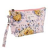 Offer for 2020 New Cosmetic Bag, VEZARON Floral Printed Makeup Tools Storage Printing Portable Clutch Waterproof Washable Travel Bags Pencil Pouch Holder (7.94.72.3inch, Model F)
