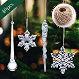 Offer for LANGMAN 40 PCS Acrylic Christmas Decoration Christmas Tree Decorations (A)