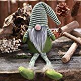 Offer for LANGMAN DIY Plush Doll Faceless Props Party Christmas Decor Home Indoor/Outdoor Decoration (Green)