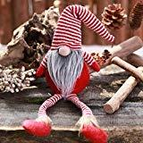 Offer for LANGMAN DIY Plush Doll Faceless Props Party Christmas Decor Home Indoor/Outdoor Decoration (Red)