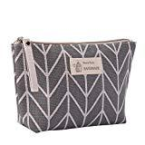 Offer for Cosmetic Bag QUNANEN Women's Cotton And Linen Large-Capacity Cosmetic Bag Multi-function Travel Cosmetic Bag (D)