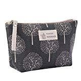 Offer for Cosmetic Bag QUNANEN Women's Cotton And Linen Large-Capacity Cosmetic Bag Multi-function Travel Cosmetic Bag (F)