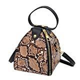 Offer for AMOUSTORE Simple Leopard Shoulder Crossbody Bag with Metal Chain Strap and Top Zipper (A)