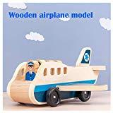 Offer for Wooden Airplane Model Set - Wooden Children's Aircraft Simulation Aviation Model Set Color Perception Puzzle Toys Gift for Kids