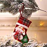 Offer for Makalon 2020 Xmas Tree Ornament Decoration Party Holiday Christmas Santa Claus Decor Gift (Christmas Socks, A)