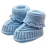 Offer for LOMONER Kids Toddler Baby Boys Girls Snow Boots,Winter Knitting Lace Crochet Shoes Buckle Handcraft Shoes (0-3 Months, Blue)