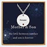 Offer for Custom Mother Daughter Necklace with Birthstone, Personalized Family Name Necklace Mix Tone Dainty Handmade Jewelry Gift for Women