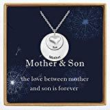 Offer for YokeDuck Initial Disc Necklace Personalized with Heart, Engraved Custom Made Mother Daughter Nameplate Necklace for Women