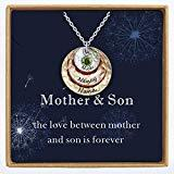 Offer for YokeDuck Custom Mother Daughter Necklace with Birthstone, Personalized Family Name Necklace Nameplate Pendant Dainty Jewelry Gift for Women