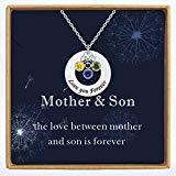 Offer for YokeDuck Custom Name Necklace with Birthstone, Personalized Initial Circle Disc Engraved Message Birth Year Necklace for Women, Mothers, BFF