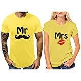 Offer for KANGMOON Mr & Mrs 2020 Couples Matching T-Shirts Set,Gift Wedding, Anniversary, Newlywed