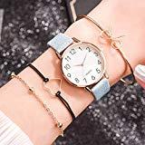 Offer for Molisell Women's Bangle Watch and 3 Bracelet Set,Leather Dress Watch Analog Quartz Wrist Watches, Female Watch