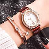 Offer for Molisell Luxury Ladies Bracelet Watch,Rhinestone Star Business Quartz Watch Female with Stainless Steel Mesh Wrist Watches Gift 05