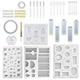 Offer for 2020 Resin Molds DIY Silicone Molds for Resin Silicone Casting Molds Silicone Casting Molds and Tools Set DIY Jewelry Craft Making (76 Pcs, Handmade Mold Set)