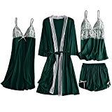 Offer for LUORATA Women Satin Sleepwear Ladies Nightwear Nightdress Sexy Lingerie Lace Babydoll Strap Chemise Cami Halter Lingerie