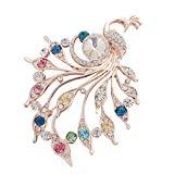Offer for LANGMAN 2020 New Women's Brooches Set Crystal Rhinestone Brooches Vintage Wedding Brooches for Banquet Wedding Daily Supplies (Multicolor)