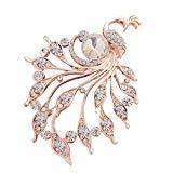 Offer for LANGMAN 2020 New Women's Brooches Set Crystal Rhinestone Brooches Vintage Wedding Brooches for Banquet Wedding Daily Supplies (White)