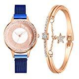 Offer for YIWULA 2020 Women's Bangle Gold Watch and Bracelet Set Small and Delicate European Beauty Simple and Elegant Casual Watches Suit Gift Sale (Simple A)