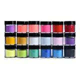 Offer for 18 Colors Acrylic Powder-Multicolor Acrylic Nail Art Tips UV Gel Powder Dust Design Decoration 3D Manicure (18 Colors)
