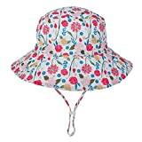 Offer for ALOVEMO Baby Boys Girls Summer Sun Protection Hat, Sunscreen Cap Hat Fisherman's Hat Bucket Hat (L, D)