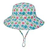 Offer for ALOVEMO Baby Boys Girls Summer Sun Protection Hat, Sunscreen Cap Hat Fisherman's Hat Bucket Hat (L, F)