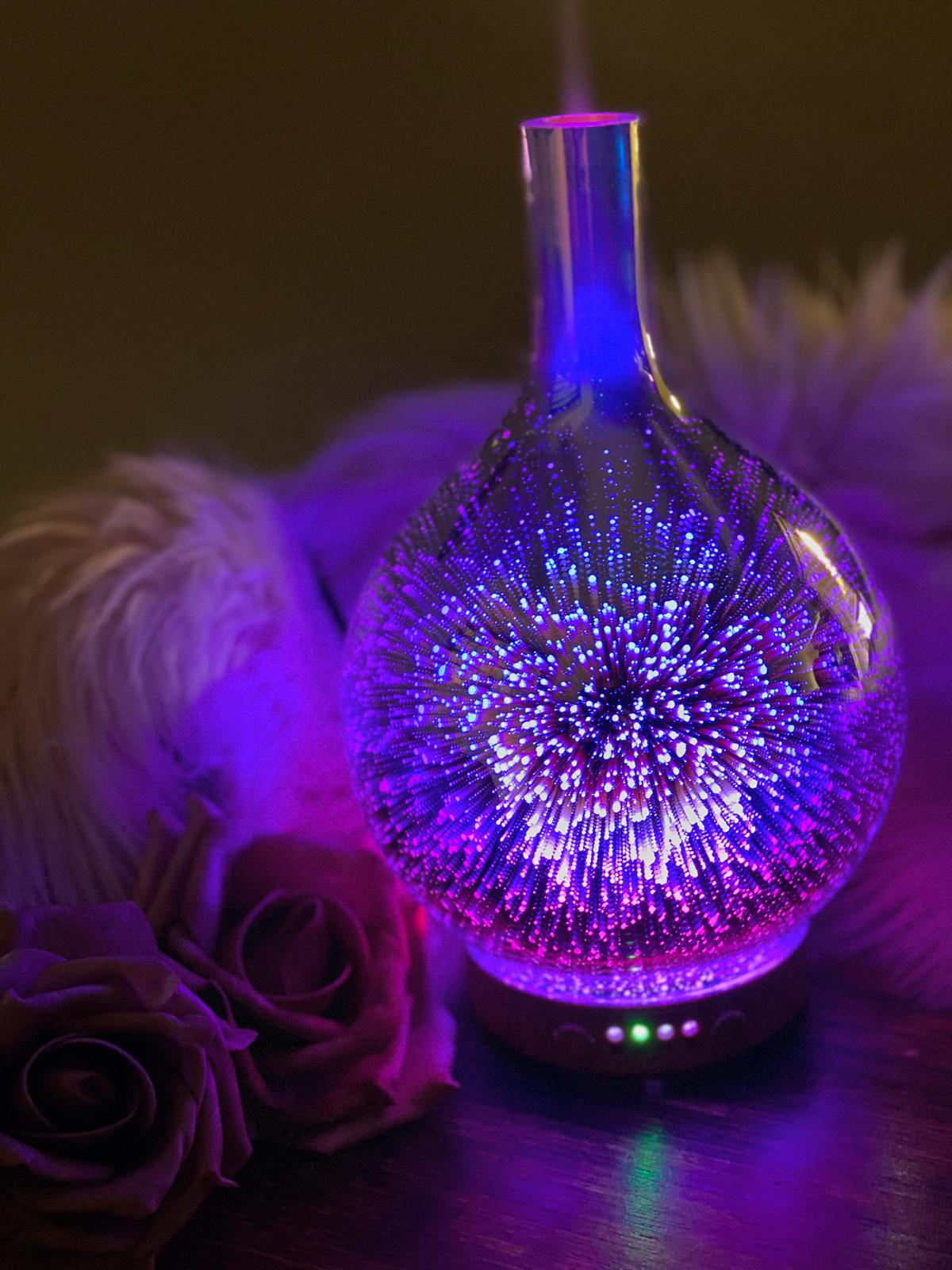 3D Glass Cosmic Starburst Aromatherapy Oil Diffuser